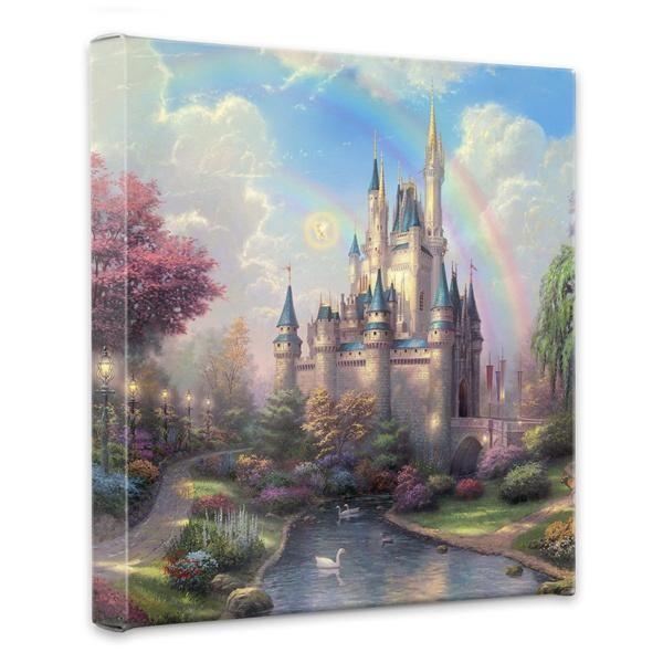 Thomas Kinkade Disney A New Day at the Cinderella Castle