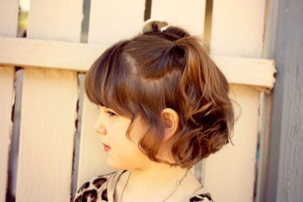 Great Anytime Half Pigtails Hair Styles Short Hair Styles Kids Hairstyles