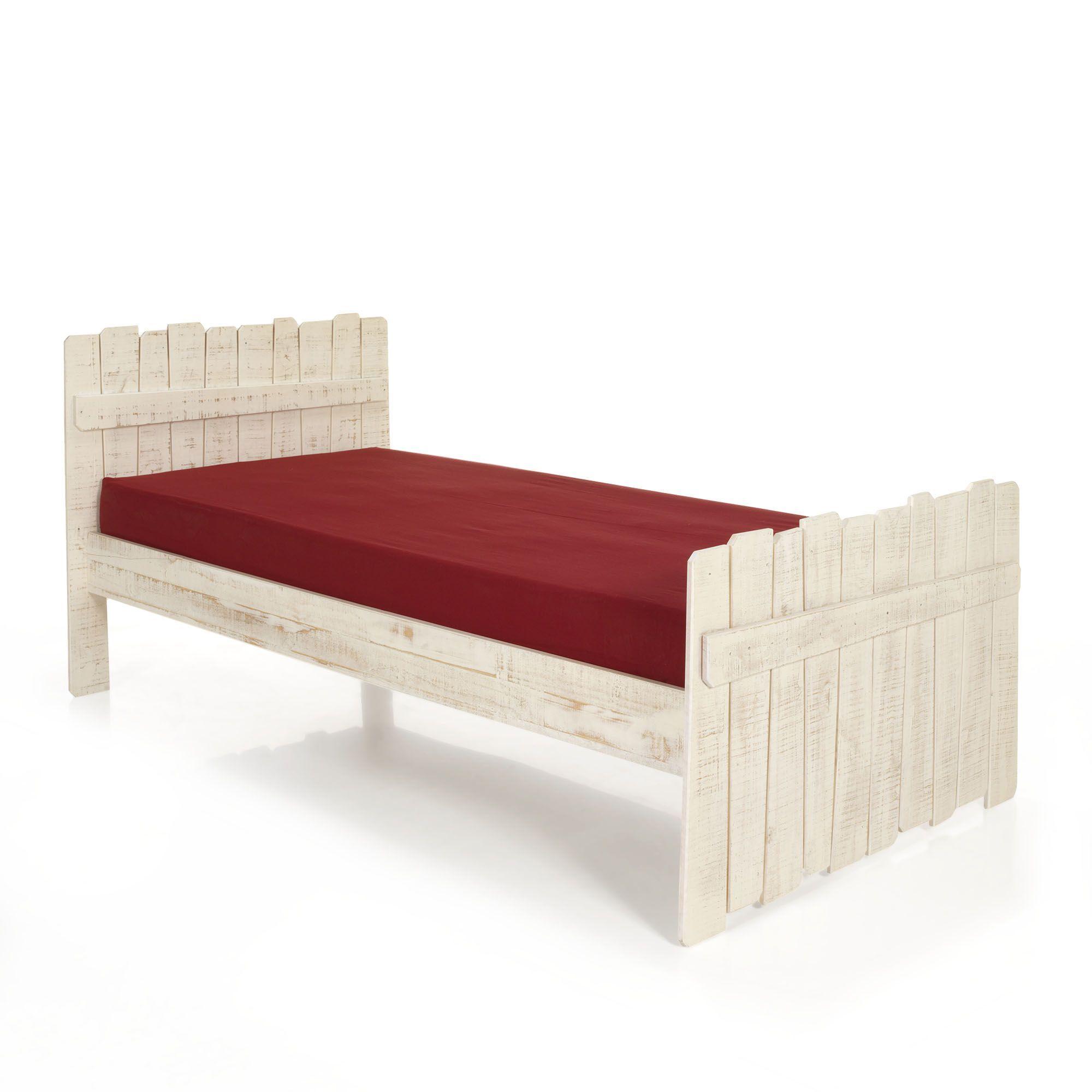 Lit Pour Enfant 90x200cm Blanc Woody Wood Les Lits 1 Place