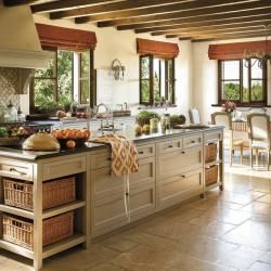 Modern Country Style Open Plan Kitchen With A French Touch