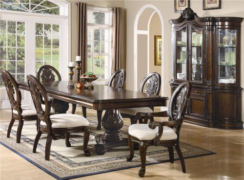 Inland Empire Furniture Jordan Brown Cherry Solid Wood 7 Piece