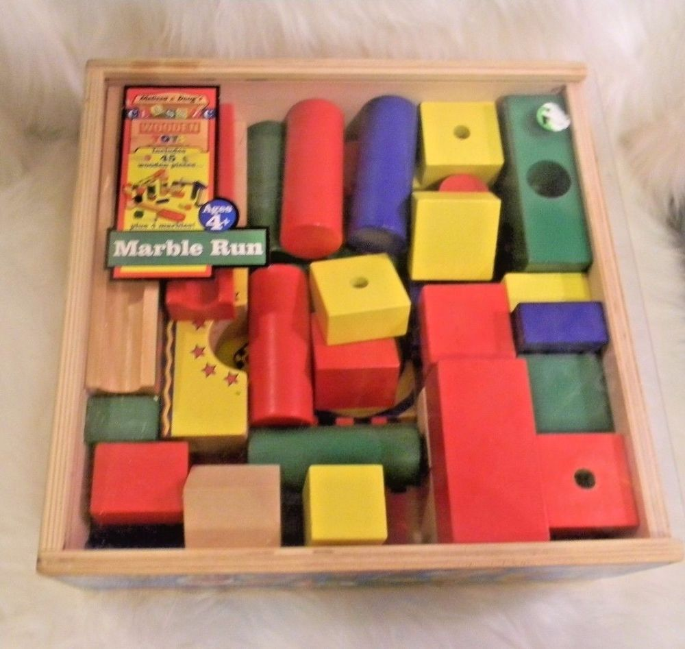 Wooden Marble Run Maze Building Toy Melissa And Doug