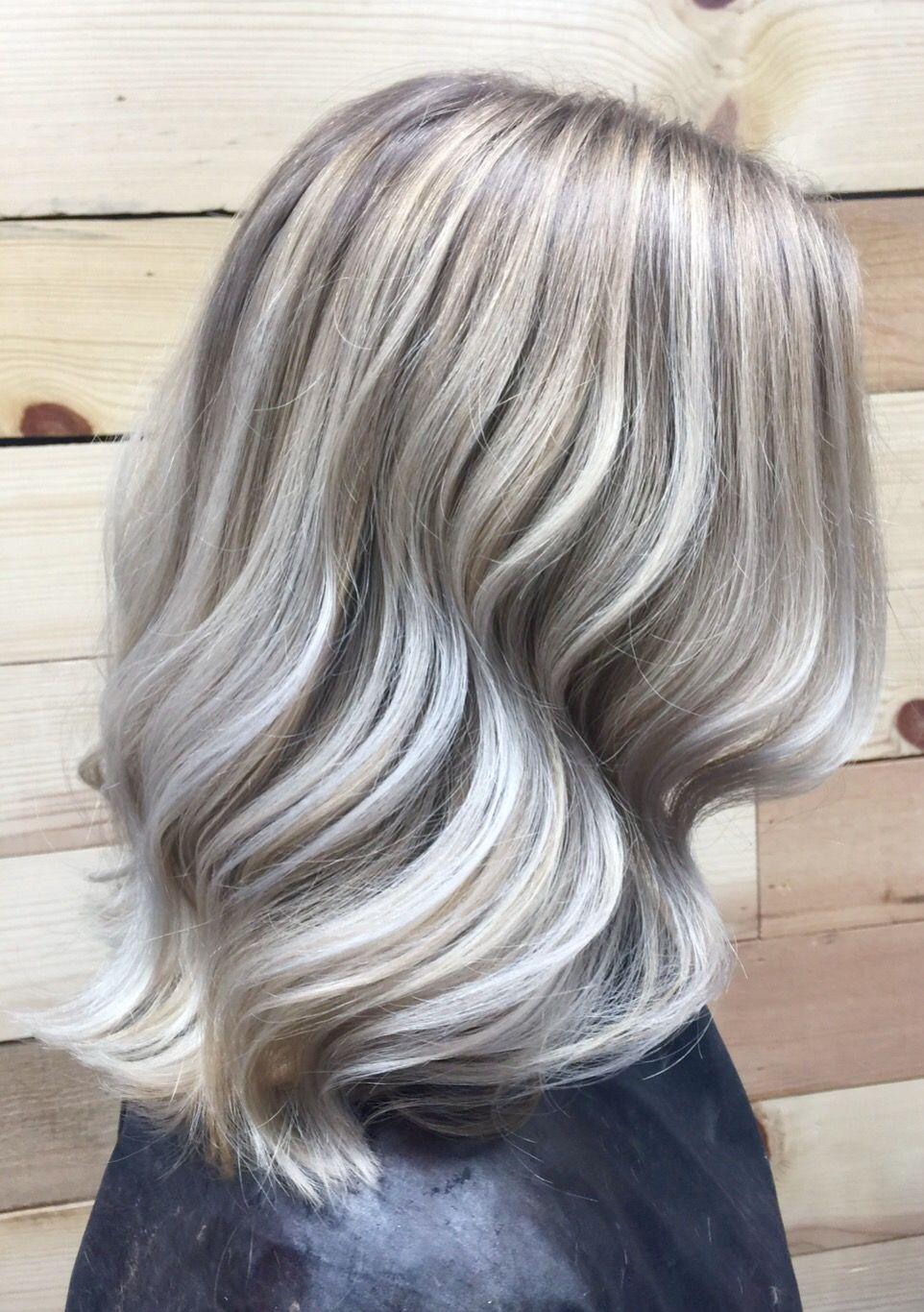 Icy balayage grey pinterest balayage funky hairstyles