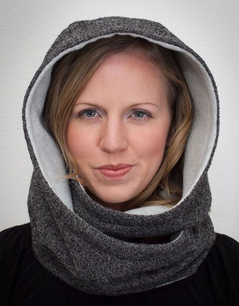 Hooded Infinity Scarf Sewing Pattern | Pinterest | Scarf patterns ...