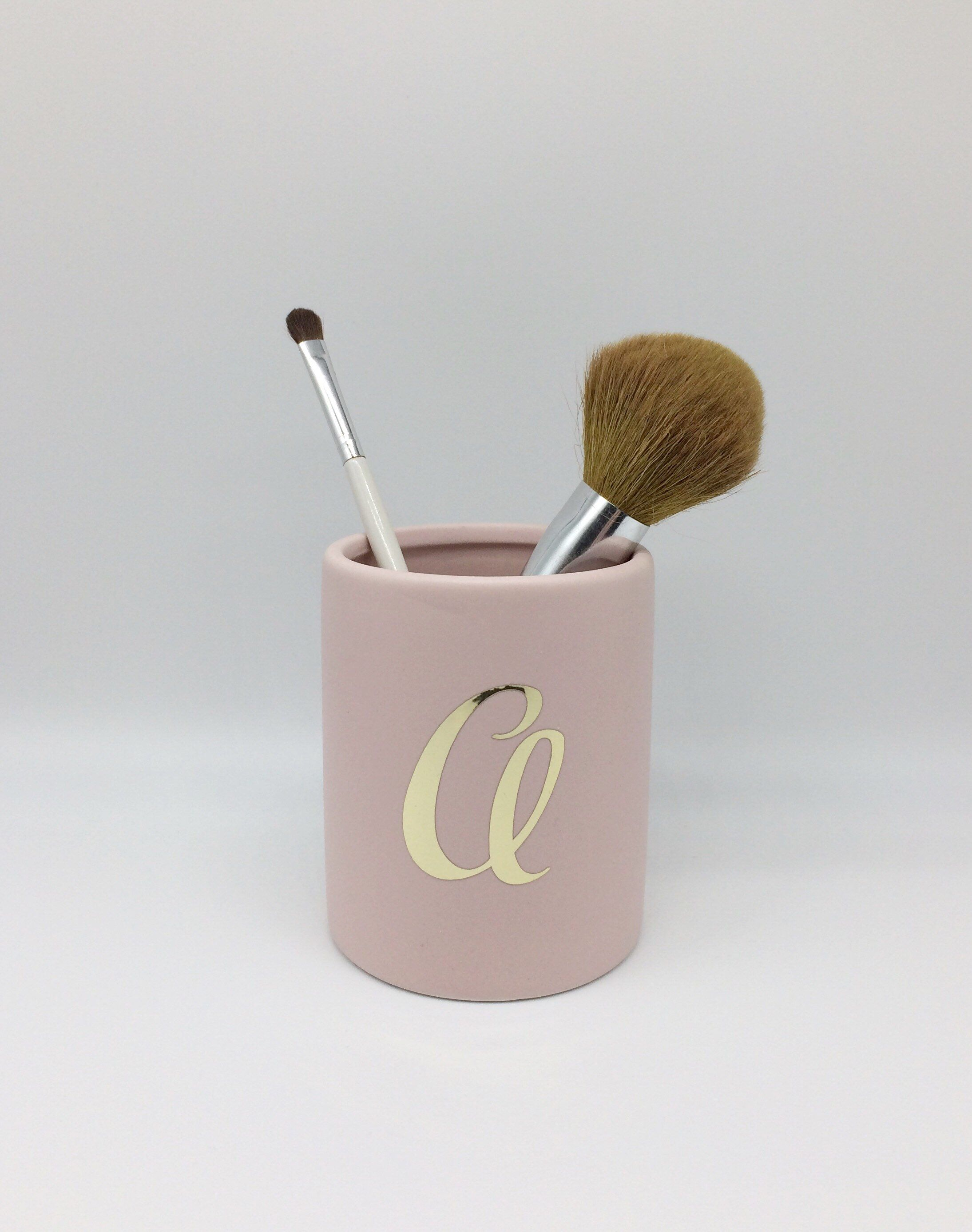 Personalised make up brush holder, pencil pot, office pot