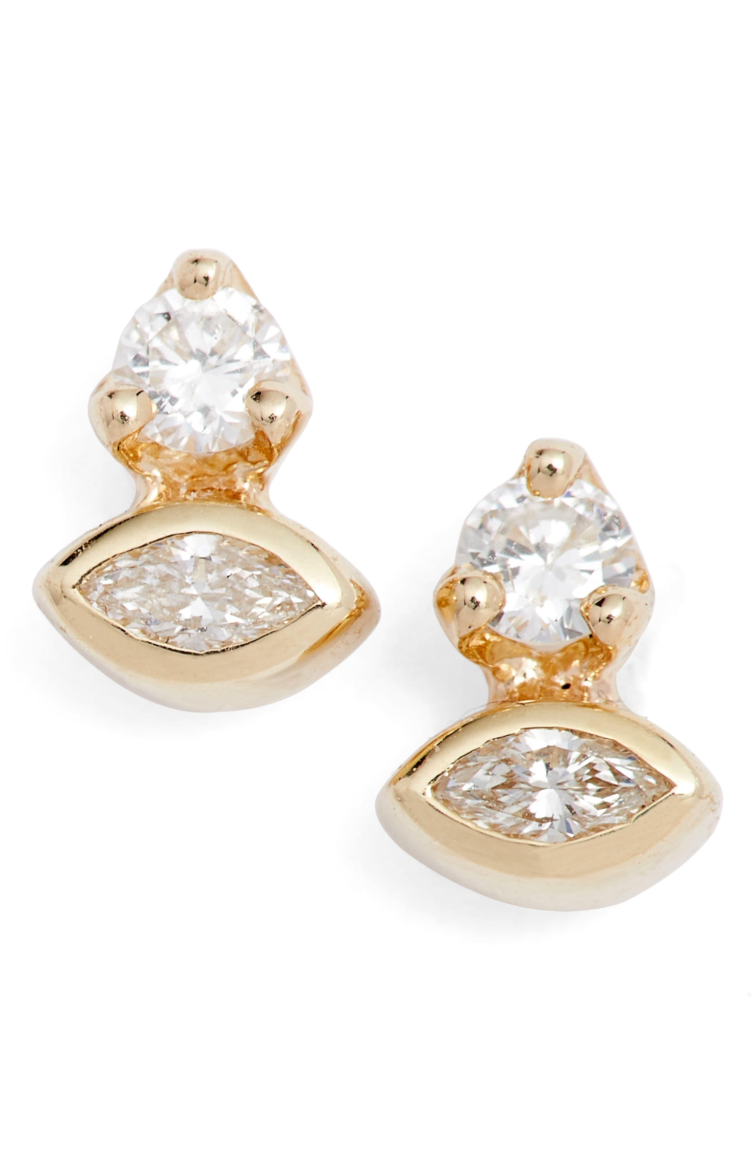 472b6d20dfbd7 Women's Zoë Chicco Diamond Cluster Stud Earrings (Nordstrom ...