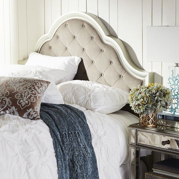 Pier 1 Imports Silver Hayworth Bella Upholstered Queen Headboard 450 Liked On Polyvore Featuring Home Furniture And Beds My Finds