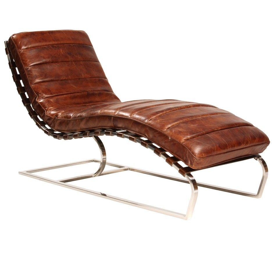 St James Leather Chaise Cognac Zin Home Modern Chaise Lounge Leather Chaise Lounge Chair Chaise Lounge Chair