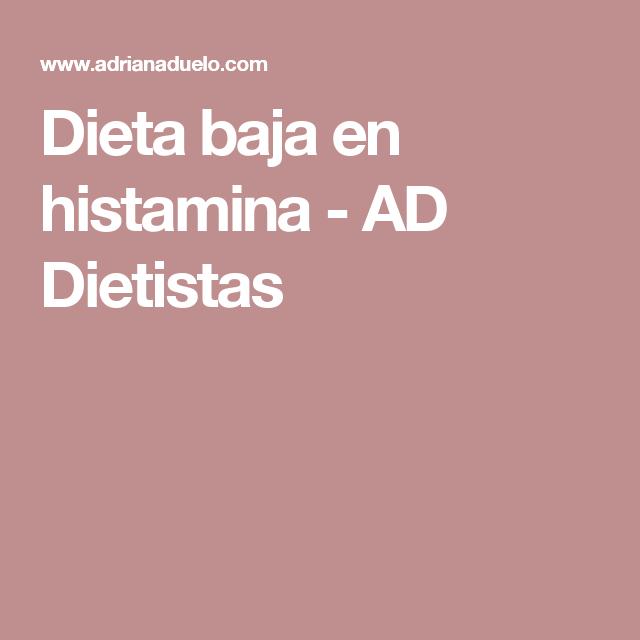 intolerancia a la histamina dieta