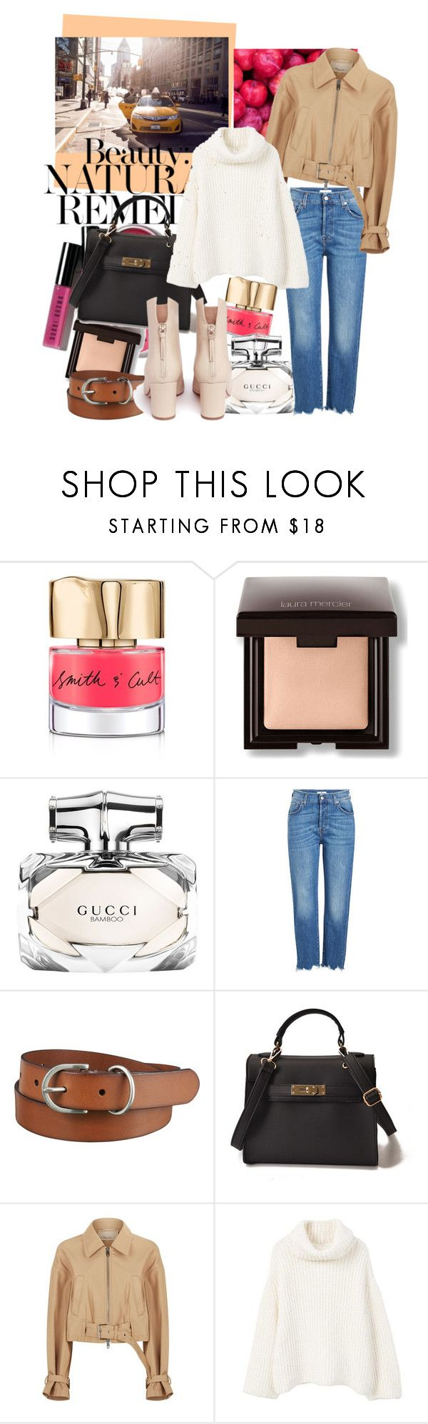 """Geen titel #32"" by mychicfashiondiary ❤ liked on Polyvore featuring Smith & Cult, Laura Mercier, Bohemia, Gucci, 7 For All Mankind, Uniqlo, 3.1 Phillip Lim, MANGO and Francesco Russo"