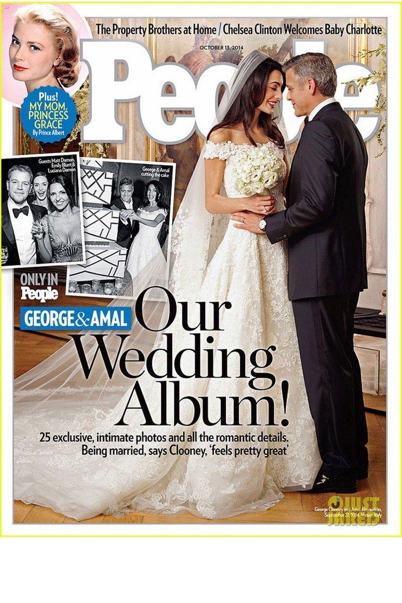 Die Hochzeitskleider Der Stars George Clooney Hochzeit George Clooney Hochzeitsfeier Ideen
