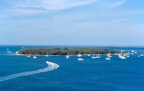 Cruisers anchorage off Christmas Tree Island, Key West