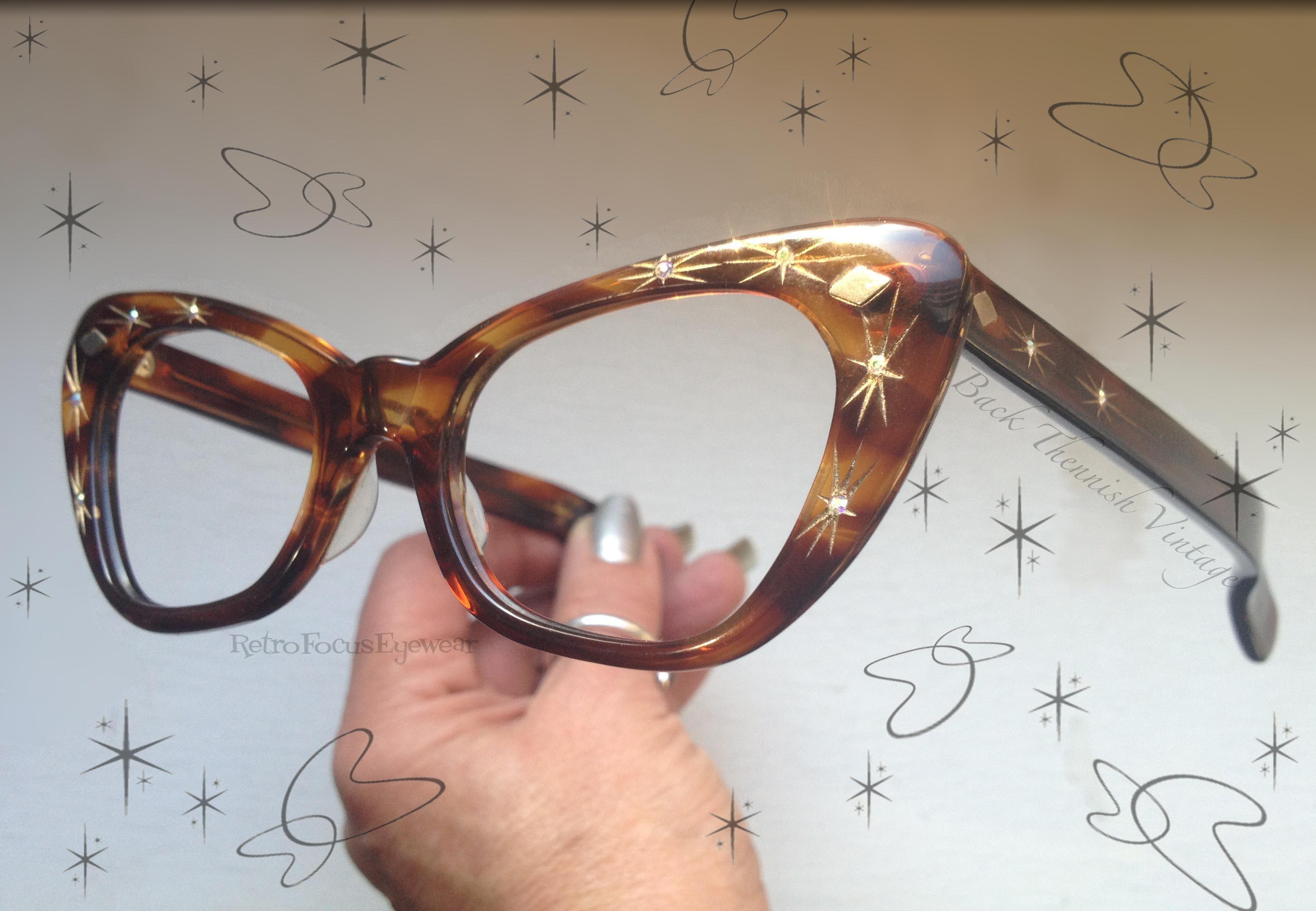 460a198504d Pin by Retro Focus Eyewear LLC on Wicked Cat Eye Specs   Clip on ...