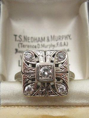 1920s Art Deco Diamond Ring by lilian