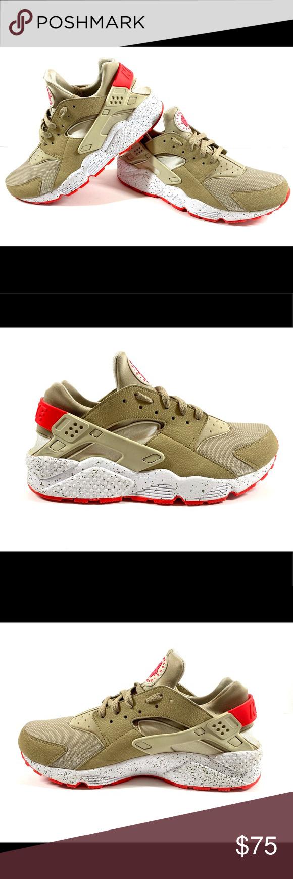 Nike Air Huarache Beige Laser Crimson 11 5 Us Mens Shoes In Excellent Condition Light Wear Please See Photos Size Nike Air Huarache Huaraches Air Huarache