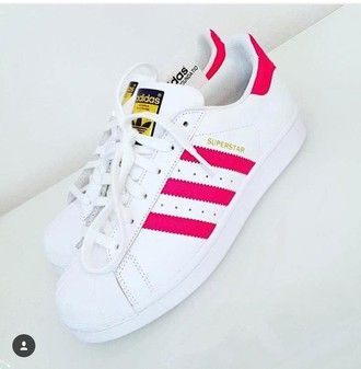 shoes stan smith adidas superstar hot pink clothes tracksuit stripes pink