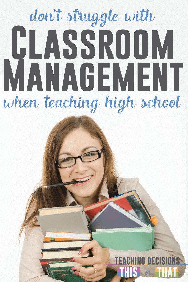 Classroom management for secondary teachers language