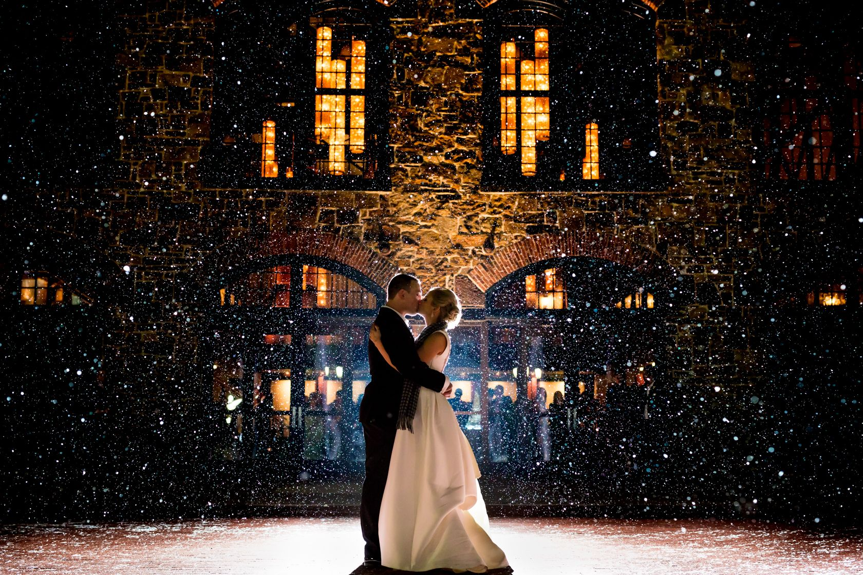 Perfect ending to a winter wonderland themed wedding