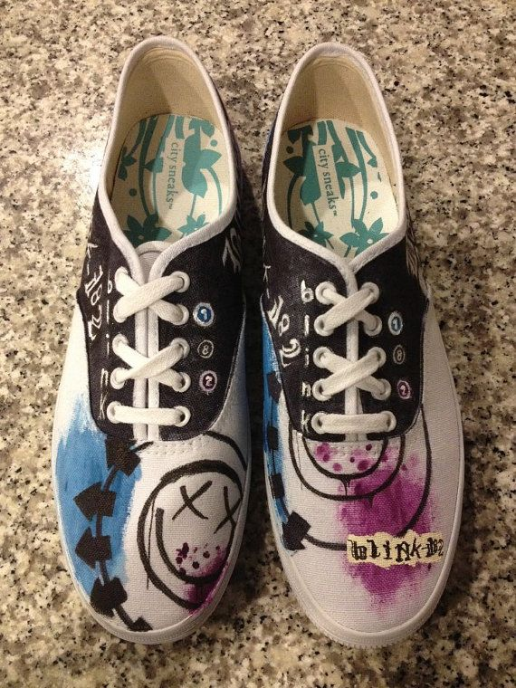 Blink 182 DYI shoes, or you could be lazy and buy them...