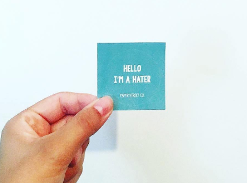 Paper Street Co. - Hello Sticker  #sticker #stickers #stickynotes #hello #hater #message #circlesticker #laptop #laptopsticker #blue #paperstreet #paperworks