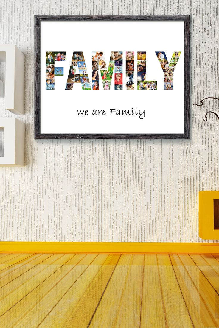 Digital file family picture collage family gift word picture digital file family picture collage family gift word picture collage home decor family wall art gift for father gift for mother any word negle Gallery