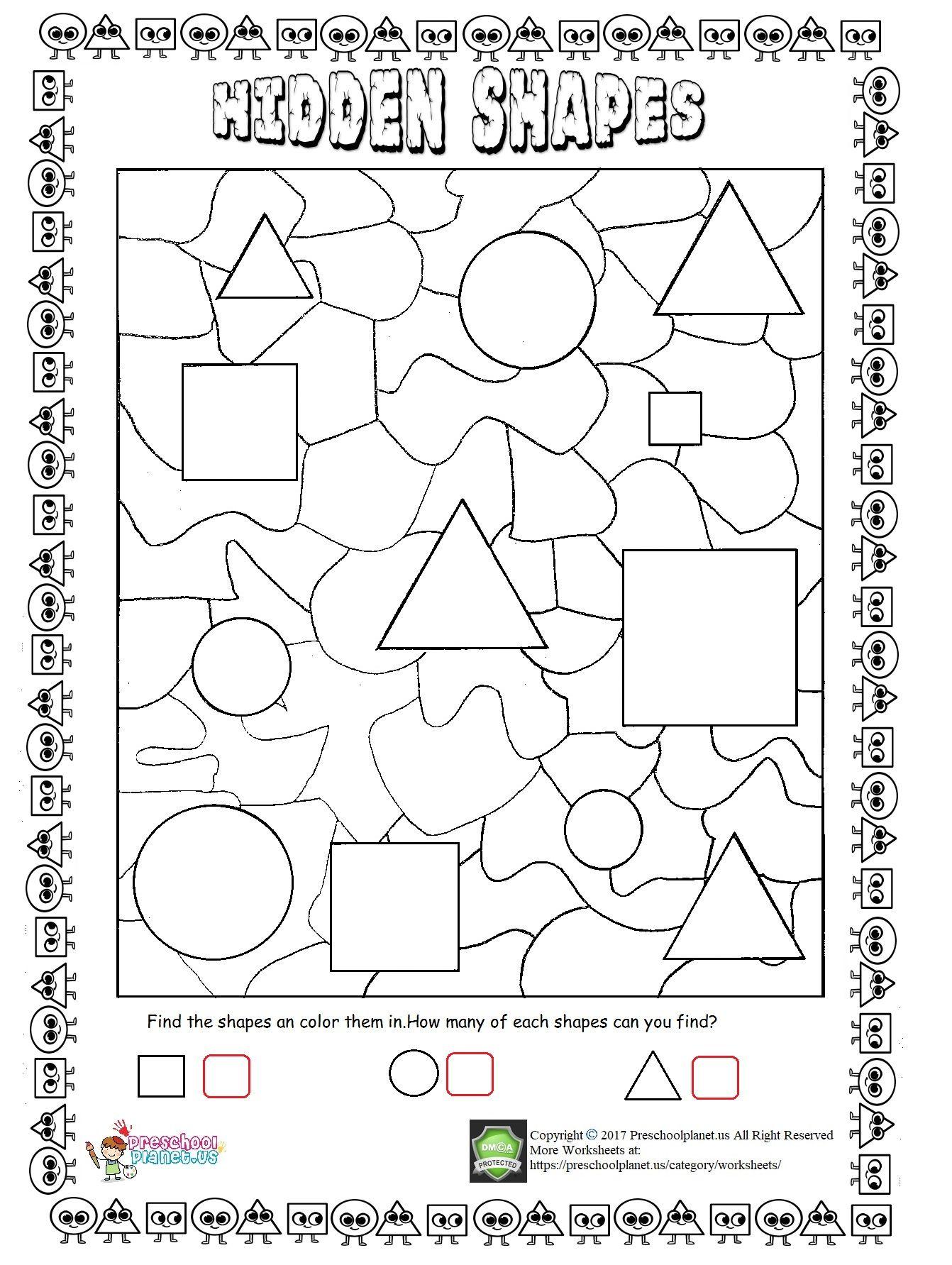 hidden shapes worksheet worksheet for kids shapes worksheets shapes worksheets. Black Bedroom Furniture Sets. Home Design Ideas