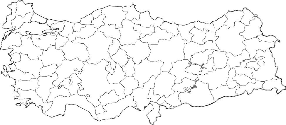 Boş Türkiye Haritası Ile Ilgili Görsel Sonucu Sosyal B Proje