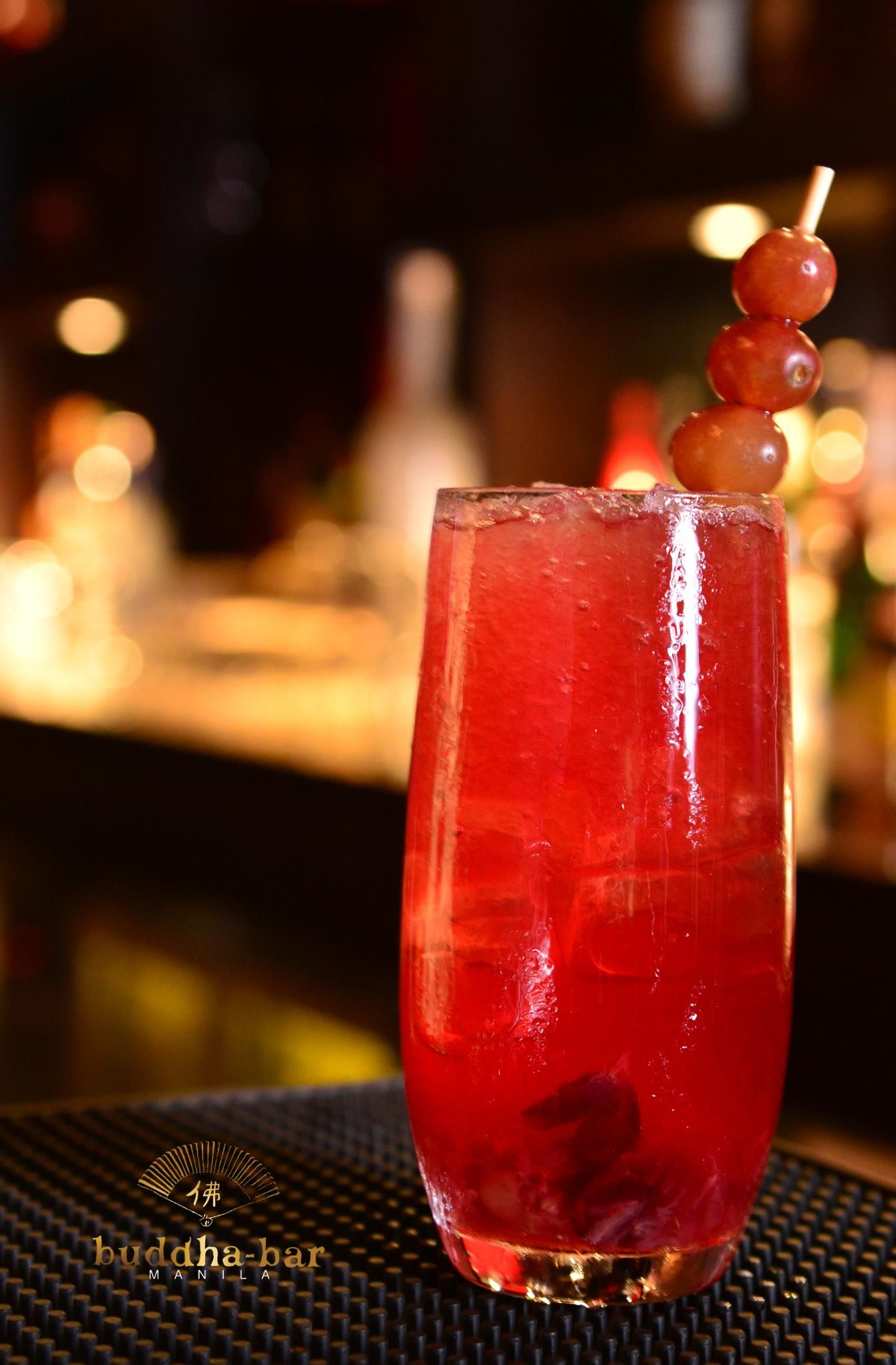The Heart Of Darkness A Blend Of Red Grapes Cognac And Red Port A Buddha Bar Manila Exclusive Red Grapes Alcoholic Drinks Grapes
