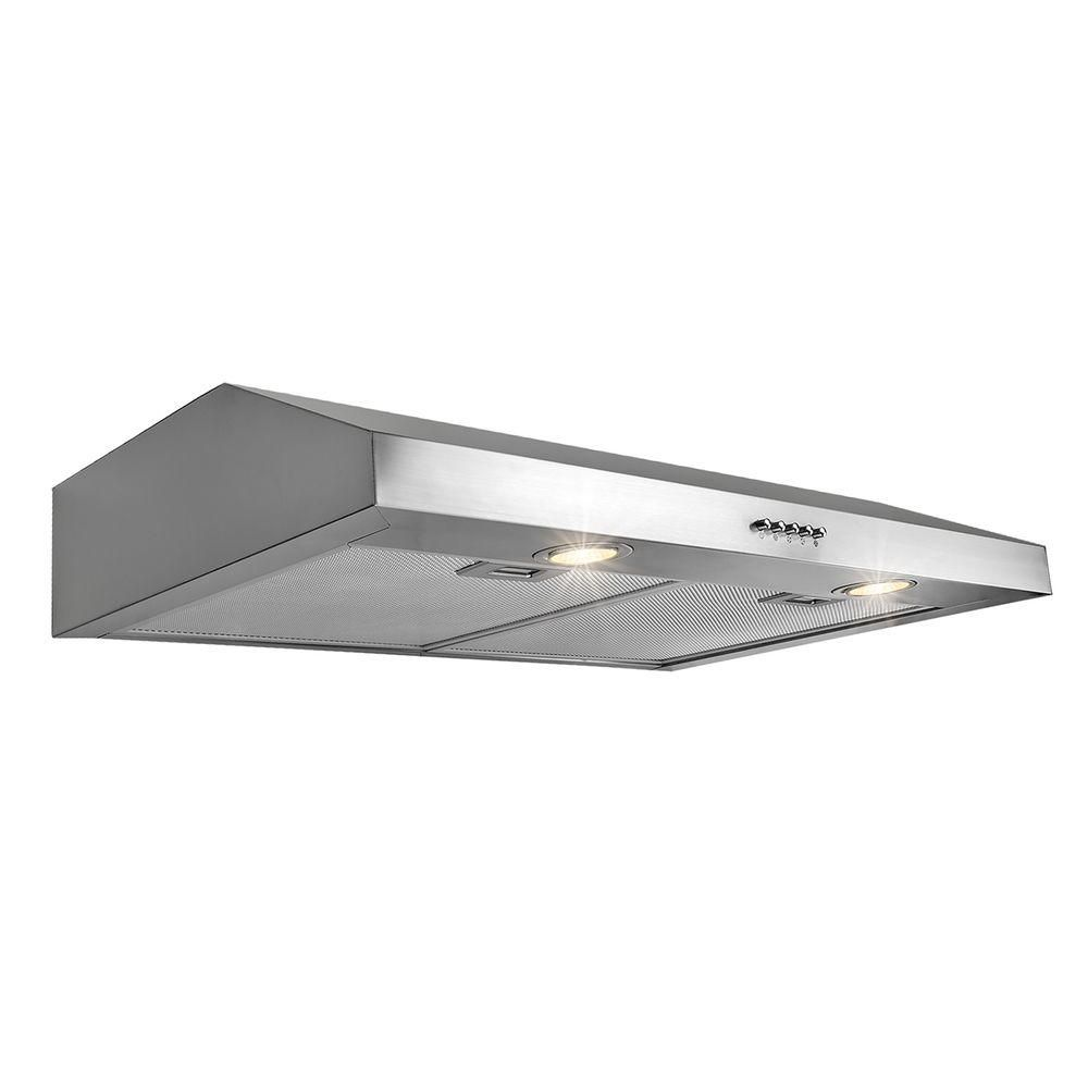Akdy 30 In Kitchen Under Cabinet Range Hood In Stainless Steel Hd