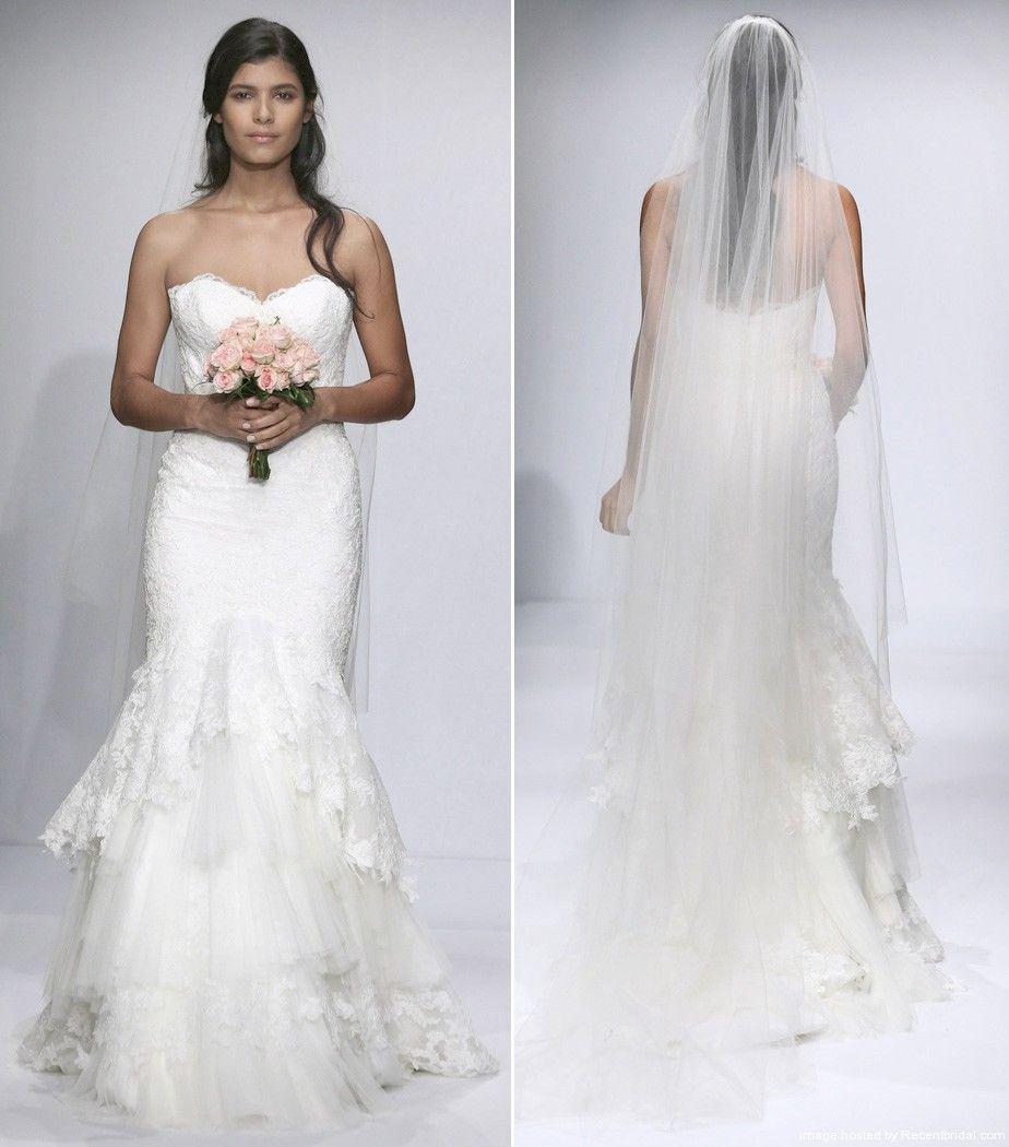 Corset Mermaid Wedding Dresses 2014 | Watters Fall 2014 Tiered ...