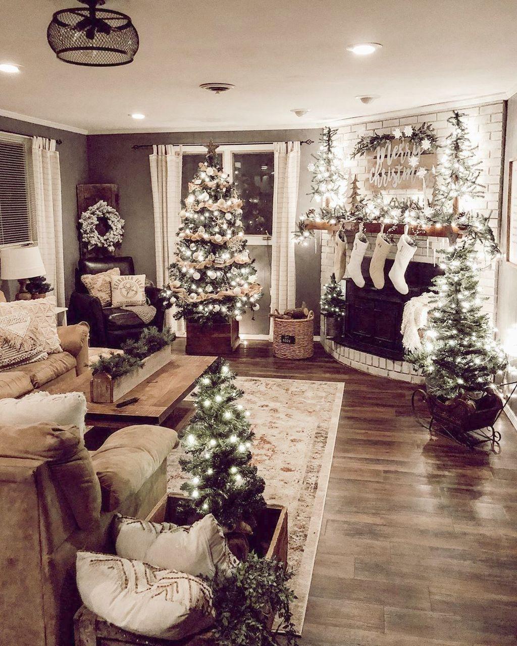 Christmas Decor Ideas For Living Room Apartment Small In 2020 Christmas Decorations Apartment Christmas Apartment Christmas Decorations Rustic