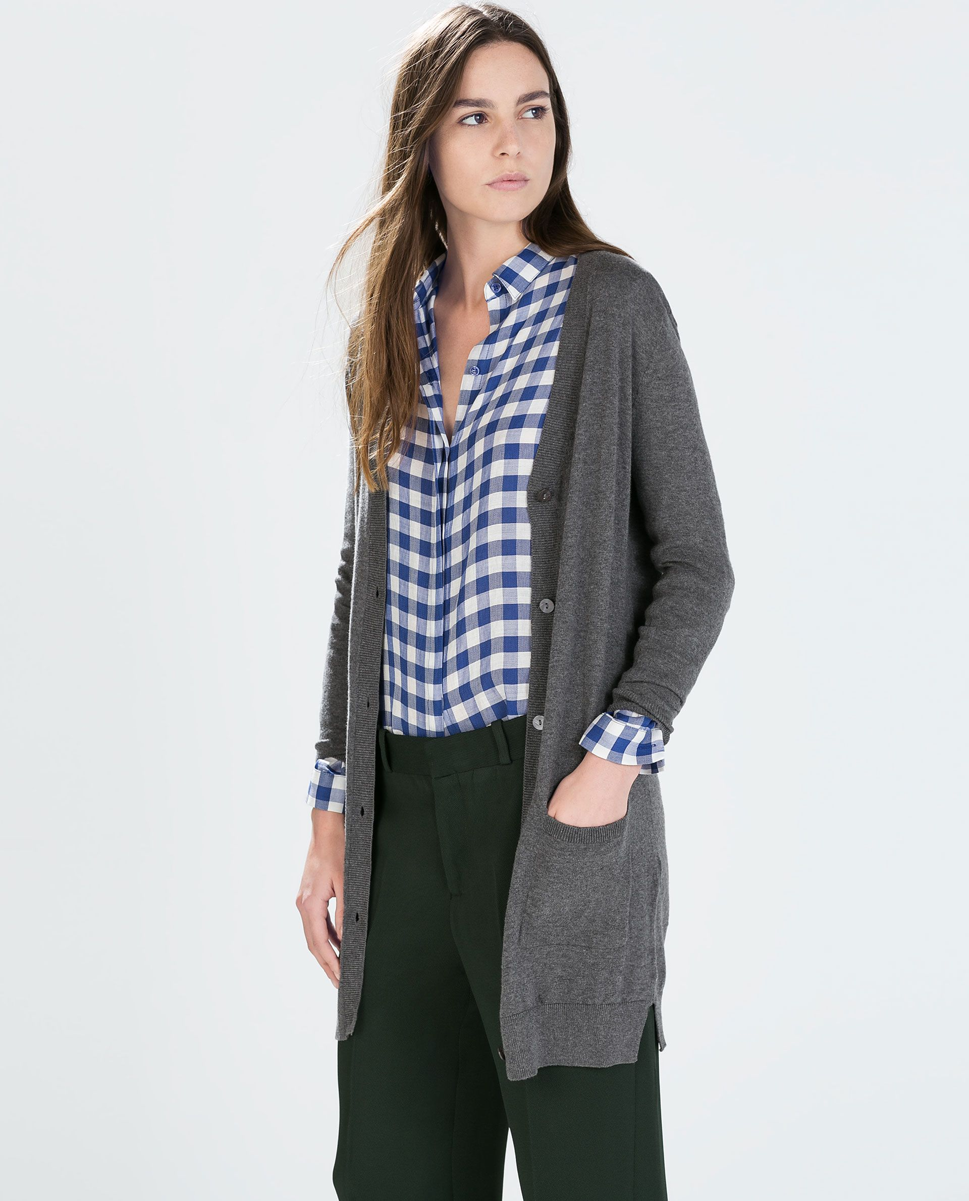 Image 2 of LONG CARDIGAN WITH POCKETS from Zara | Women's Clothing ...