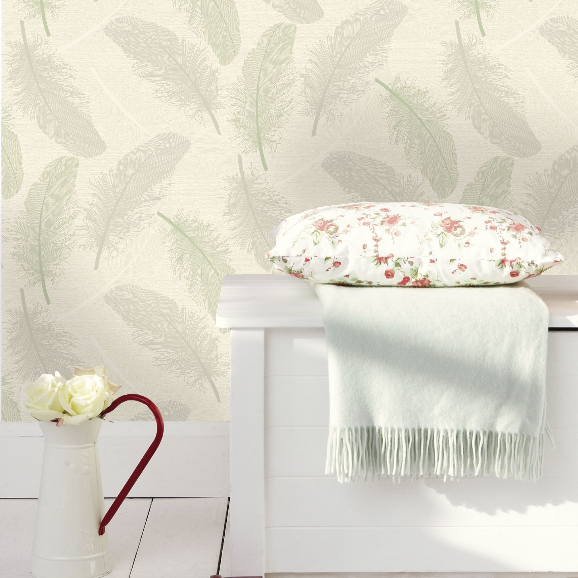 k2 green cream maisey wallpaper b q for all your home and garden rh pinterest com
