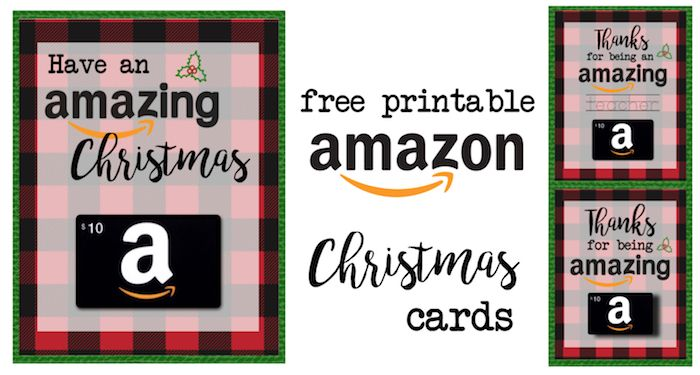 picture relating to Amazon Printable Gift Card titled Printable Xmas Present Card Holders for Amazon Reward