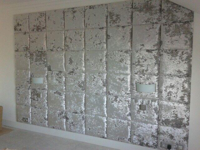 Ta Da Feature Wall Silver Crushed Velvet Wall Tiles
