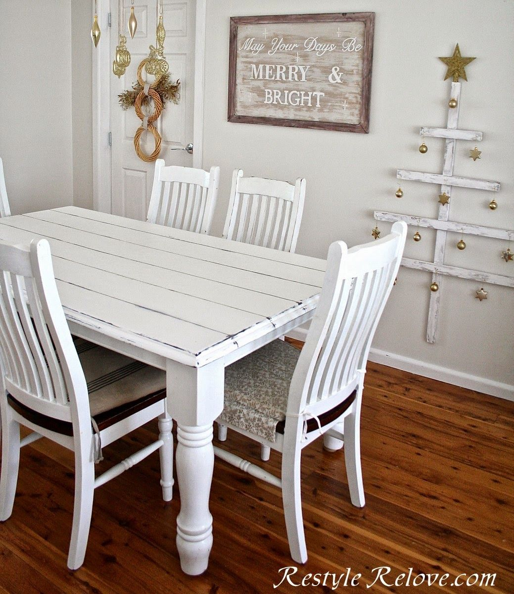 Faux Plank Farmhouse Table White farmhouse table