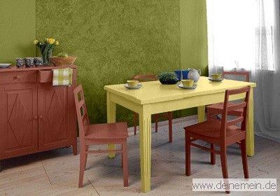 Farbgestaltung f r ein esszimmer in den wandfarben bamboo toskanabraun my delight - Farbgestaltung esszimmer ...