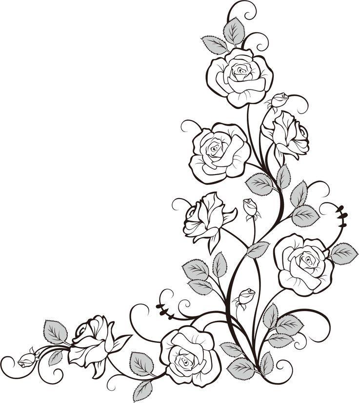 pin von sabine sima auf vorlagen blumen pinterest vorlagen zeichnen lernen und schablone. Black Bedroom Furniture Sets. Home Design Ideas