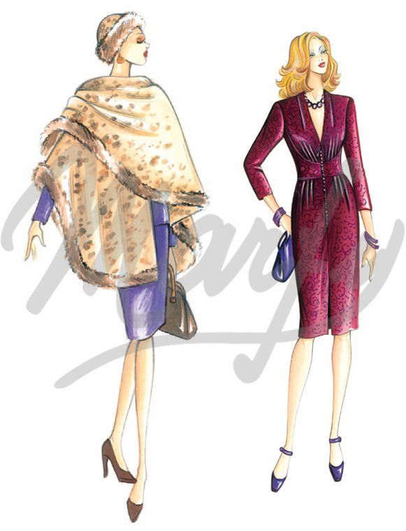Model 2997 | Sewing Pattern Capes - toga effect for the cape gently ...
