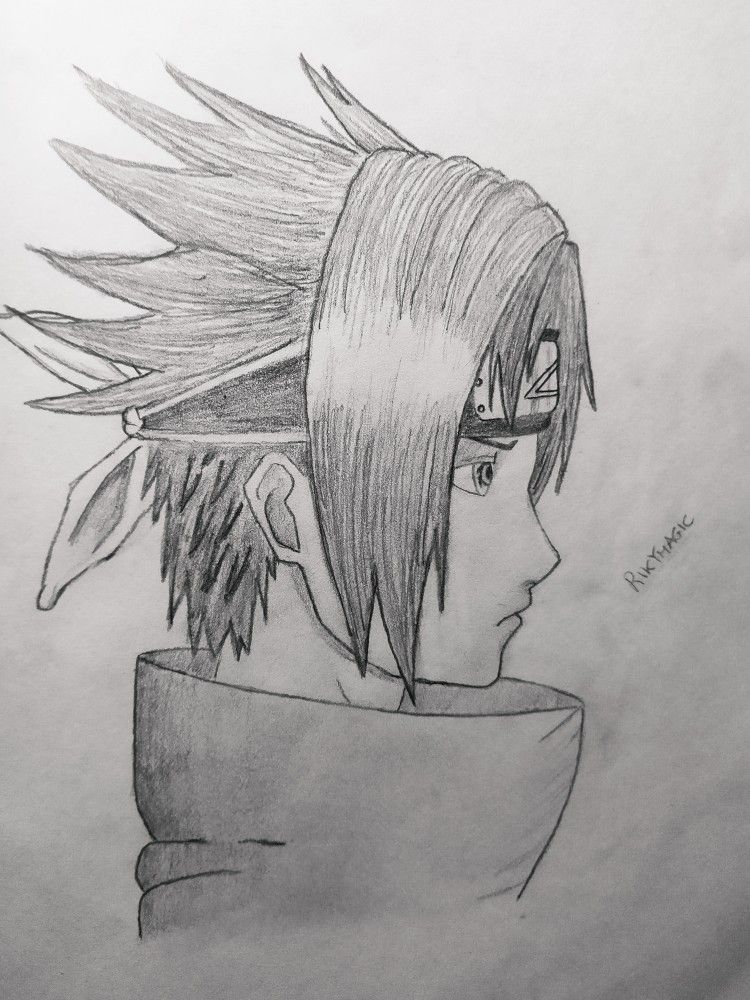 Sasuke Draw In 2020 Naruto Drawings Sasuke Drawing Anime Drawings Sketches