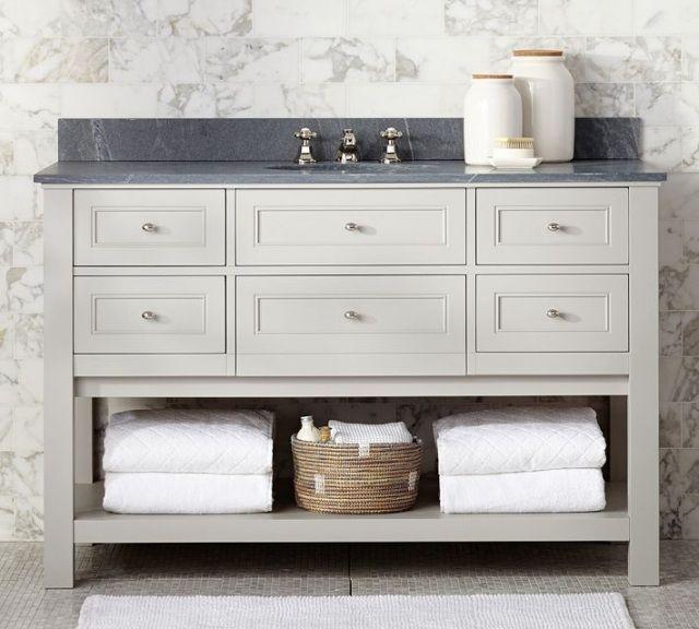 25 id es fantastiques de meuble salle de bain par potterybarn meuble salle - Idee meuble salle de bain ...
