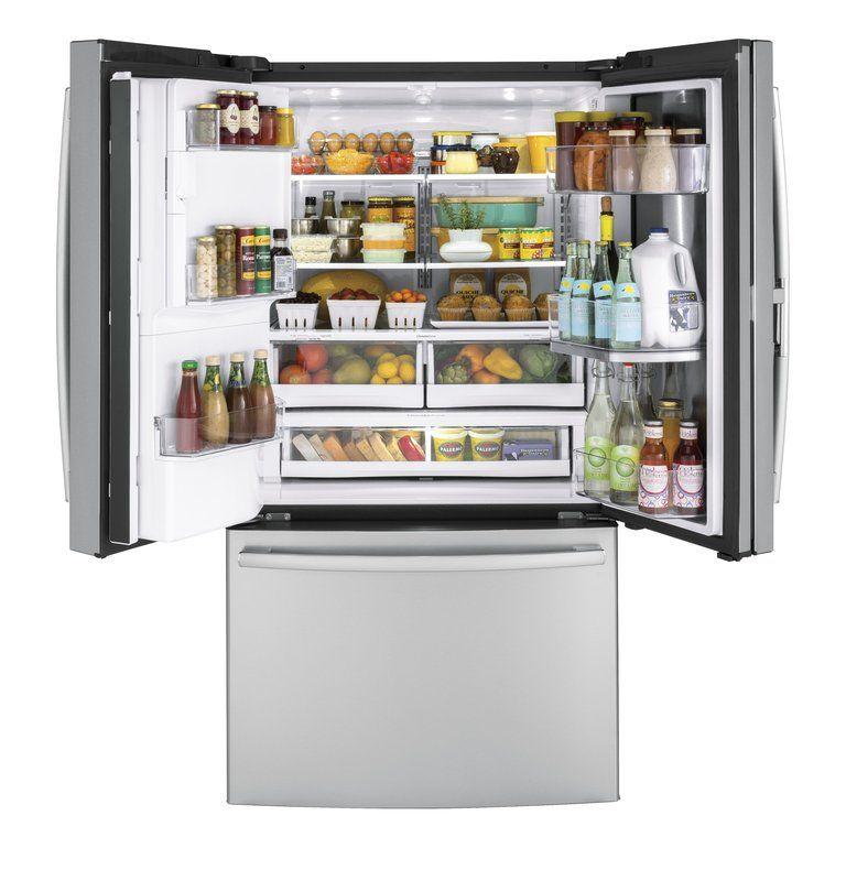 27 8 Cu Ft French Door Refrigerator With Door In Door French Door Refrigerator Best Refrigerator Brands Best Refrigerator