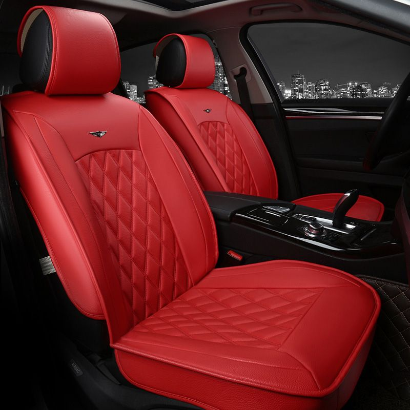 Super Colour Car Seat Cover Cushion Four Seasons General Leather Packs Pad Auto