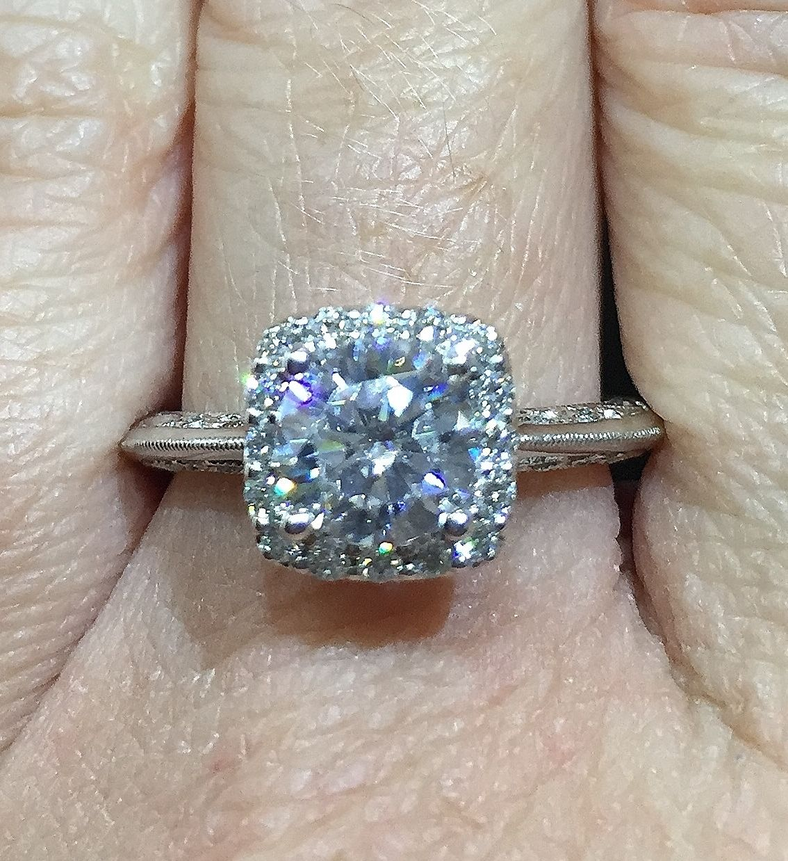 Artcarved 14k White Gold Engagement Ring Mounting Inspired By Original Designs From 14k White Gold Engagement Rings Engagement Ring Mountings Favorite Jewelry
