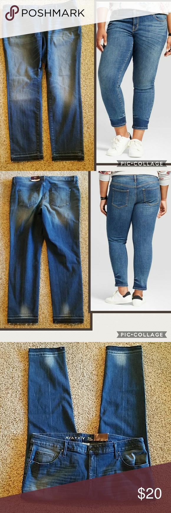 b5e5ada4772 Ava   Viv plus size skinny jeans
