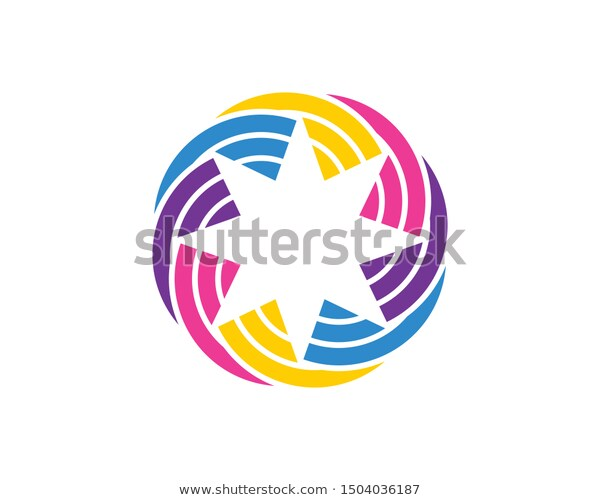 Star Line Link Connection System Stock Vector Royalty Free 1504036187