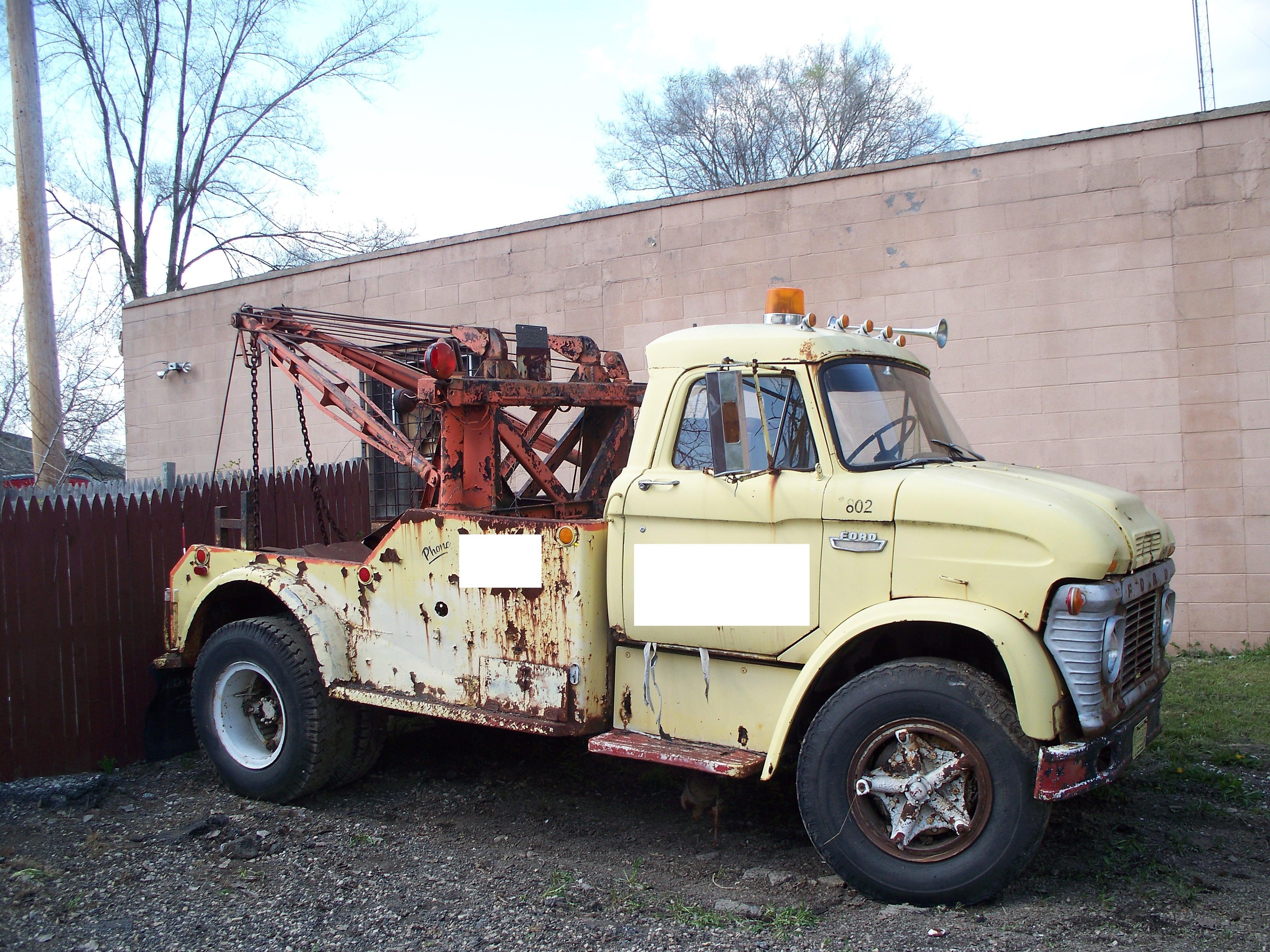 1960 Ford F350 Tow Truck Wrecker Holmes 400 Super Patina Rat Rod