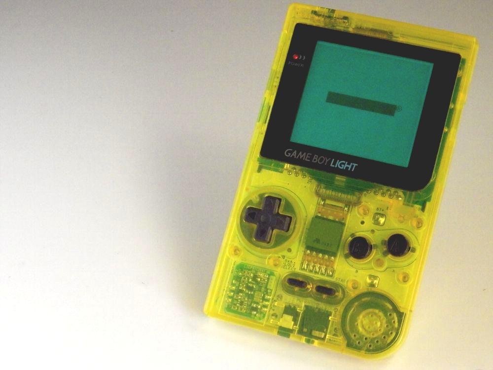 Nintendo Gameboy Light Toysrus Limited Console Skeleton Yellow