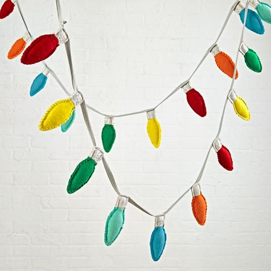 holiday lights garland the land of nod - Christmas Light Garland