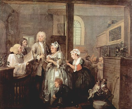 William Hogarth A Rakes Progress The Marriage Https Www